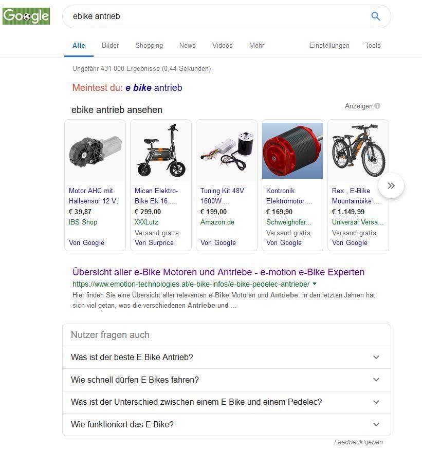 Such absicht - Google resultat